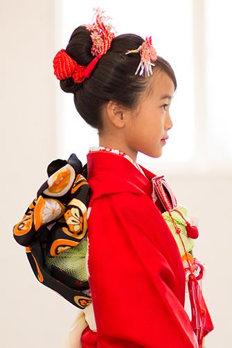日本髪 自毛 手結び帯